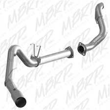 "MBRP S6286409 4"" DPF Filter Back Single Side Stainless T409 Exhaust for 2015-2016 Ford 6.7L Powerstroke"