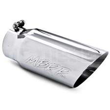"MBRP T5053 5"" Dual Wall Angle Cut Stainless T304 Exhaust Tip"