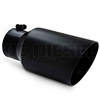"MBRP T5072BLK 6"" Dual Wall Angle Cut Black Coated Stainless T409 Exhaust Tip"