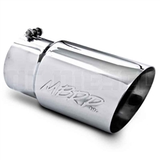 "MBRP T5074 6"" Dual Wall Angle Cut Stainless T304 Exhaust Tip"