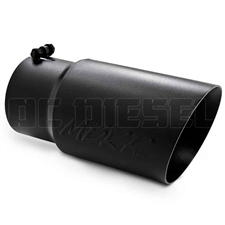 "MBRP T5074BLK 6"" Dual Wall Angle Cut Black Coated Stainless T409 Exhaust Tip"