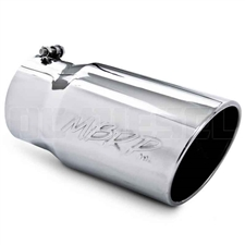 "MBRP T5075 6"" Rolled Edge Angle Cut Stainless T304 Exhaust Tip"