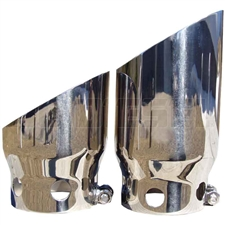 "MBRP T5111 5"" Single Wall Angle Cut Stainless T304 Exhaust Tips for 2008-2016 Ford 6.4L Powertstroke"