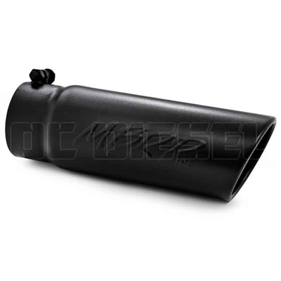 "MBRP T5112BLK 4"" Rolled Edge Angle Cut Black Coated Stainless T409 Exhaust Tip"