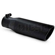 "MBRP T5113BLK 3.5"" Rolled Edge Angle Cut Black Coated Stainless T409 Exhaust Tip"