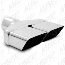 "MBRP T5118 8""x 2.5"" Rectangle Angle Cut Stainless T304 Exhaust Tip"