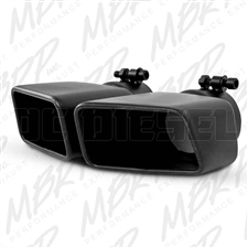 "MBRP T5119BLK 4.75""x 3"" Rectangle Angled Cut Black Coated Stainless T409 Exhaust Tip"