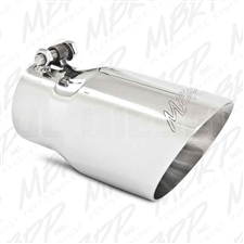 "MBRP T5122 4"" Dual Wall Angle Cut Stainless T304 Exhaust Tip"