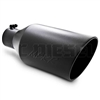 "MBRP T5128BLK 8"" Rolled Edge Angle Cut Black Coated Sainless T409 Exhaust Tip"