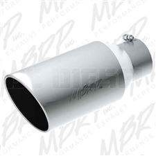 "MBRP T5129 8"" Rolled Edge Angle Cut Stainless T304 Exhaust Tip"
