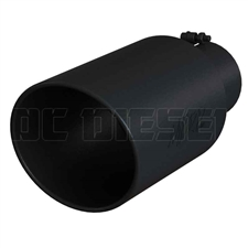 "MBRP T5129BLK 8"" Rolled Edge Angle Cut Black Coated Sainless T409 Exhaust Tip"