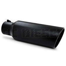 "MBRP T5130BLK 6"" Rolled Edge Angle Cut Black Coated Sainless T409 Exhaust Tip"