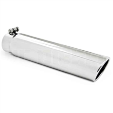 "MBRP T5143 3.5"" Rolled Edge Angled Cut Stainless T304 Exhaust Tip"