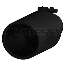 "MBRP T5150BLK 4"" Rolled Edge Angled Cut Black Coated Stainless T409 Exhaust Tip"