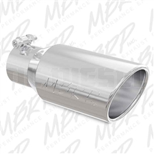 "MBRP T5155 4"" Rolled Edge Angle Cut Stainless T304 Exhaust Tip"