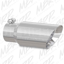 "MBRP T5156 4"" Rolled Edge Angle Cut Stainless T304 Exhaust Tip"