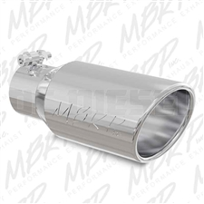 "MBRP T5157 4"" Rolled Edge Angle Cut Stainless T304 Exhaust Tip"