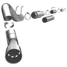 "MagnaFlow 16982 5"" Filter Back Magnaflow Series Single Exhaust System for 2008-2010 Ford 6.4L Powerstroke"