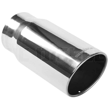 "MagnaFlow 35185 6"" Round Single Wall Rolled Edge Angle Cut Exhaust Tip"