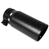 "MagnaFlow 35220 6"" Black Clamp On Round Single Wall Intercooled Rolled Edge Angle Cut Exhaust Tip"