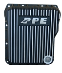 PPE Diesel 128052010 Brushed Black Low Profile Aluminum Transmission Pan 2001-2010 GM 6.6L Duramax