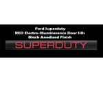 Recon 264121FDRDBK Illuminated Door Sill 1999-2012 Ford Superduty Black Anodized Red Electroluminescence