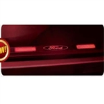 Recon 264121RFDRD Illuminated Door Sill 1999-2012 Ford Superduty Brushed Aluminum Red Electroluminescence