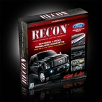 Recon 264181CHBK Raised Letter Insert 2008-2012 Ford Superduty Chrome & Black