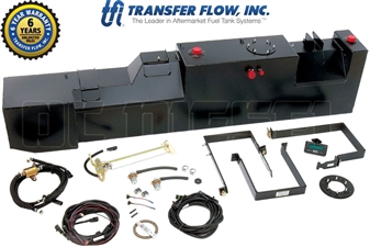 Transfer Flow 080-BL-11001 34 Gallon Cab Chassis Midship Replacement Fuel Tank for 1999-2010 Ford 7.3L, 6.0L, 6.4L Powerstroke
