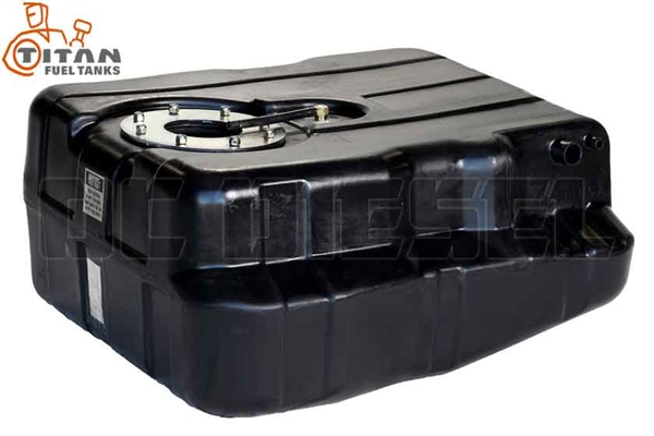 Titan Fuel Tanks 8020099 40 Gallon After-Axle Utility Tank for 1999-2010 Ford 7.3L, 6.0L, 6.4L Powerstroke