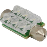 Vision X HIL-D6W Dome Light LED Replacement Large White