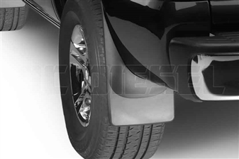 WeatherTech 120006 Rear MudFlaps for 2001-2007 GM 6.6L Duramax LB7, LLY, LBZ