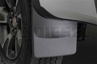 WeatherTech 120052 Rear MudFlaps for 2015-2017 GM 2.8L Duramax LWN