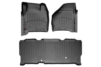 WeatherTech 44002-1-3 Black FloorLiner Set for 1999-2007 Ford 7.3L, 6.0L Powerstroke