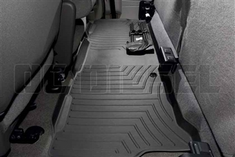 WeatherTech 440023 Black Rear FloorLiner for 1999-2010 Ford 7.3L, 6.0L, 6.4L Powerstroke