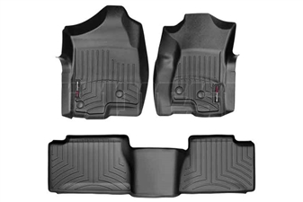 WeatherTech 44003-1-4 Black FloorLiner Set for 2001-2007 GM 6.6L Duramax LB7, LLY, LBZ
