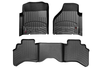 WeatherTech 44004-1-2 Black FloorLiner Set for 2003-2009 Dodge 5.9L, 6.7L Cummins