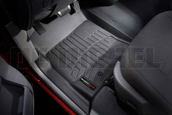 WeatherTech 440041 Black Front FloorLiner for 2003-2009 Dodge 5.9L, 6.7L Cummins