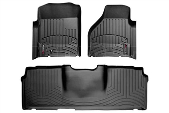 WeatherTech 440041-440123 Black FloorLiner Set for 2006-2009 Dodge 5.9L, 6.7L Cummins