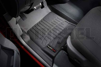 WeatherTech 440121 Black Front FloorLiner for 2003-2009 Dodge 5.9L, 6.7L Cummins