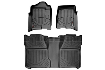 WeatherTech 44066-1-0 Black FloorLiner Set for 2007-2014 GM 6.6L Duramax LMM, LML