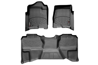 WeatherTech 44066-1-9 Black FloorLiner Set for 2007-2013 GM 6.6L Duramax LMM, LML