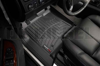 WeatherTech 440661 Black Front FloorLiner for 2007-2014 GM 6.6L Duramax LMM, LML
