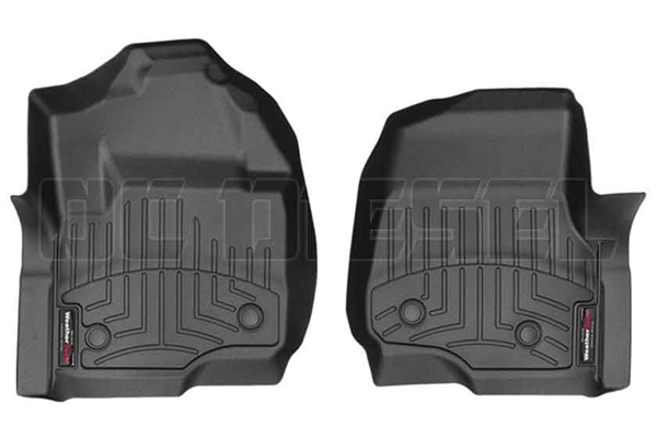 WeatherTech 4410511V Black Front FloorLiner for 2017 Ford 6.7L Powerstroke
