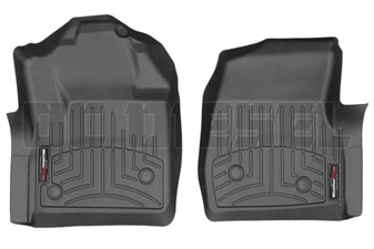 WeatherTech 4410541V Black Front FloorLiner for 2017 Ford 6.7L Powerstroke