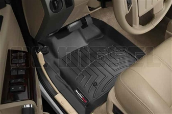 WeatherTech 441201 Black Front FloorLiner for 2008-2010 Ford 6.4L Powerstroke