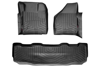 WeatherTech 441201-440022 Black FloorLiner Set for 2008-2010 Ford 6.4L Powerstroke