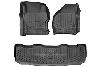WeatherTech 441251-440022 Black FloorLiner Set for 1999-2007 Ford 7.3L, 6.0L Powerstroke