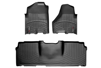 WeatherTech 442161-440123 Black FloorLiner Set for 2010-2012 Dodge 6.7LCummins