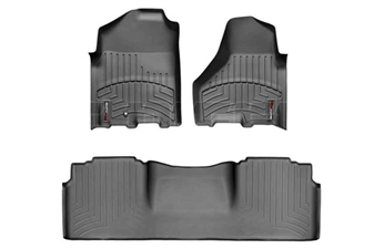 WeatherTech 442161-444772 Black FloorLiner Set for 2010-2012 Dodge 6.7LCummins